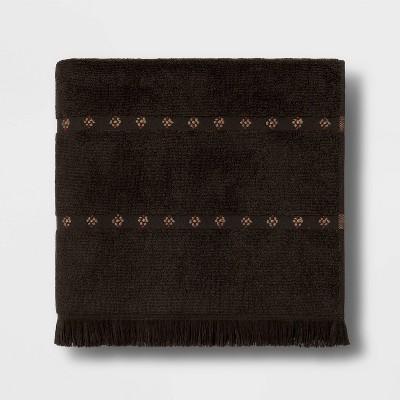 Weft Insert Bath Towel Black - Threshold™