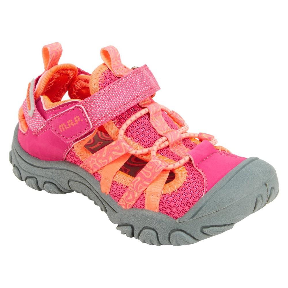 Girls' M.A.P. Niagara Fisherman Sandals - Pink 3