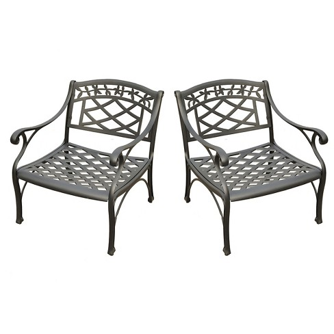 Crosley Sedona 2 Piece Cast Aluminum Outdoor Conversation Seating Set - Black - image 1 of 3