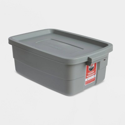 Rubbermaid 10gal Roughneck Storage Tote Gray