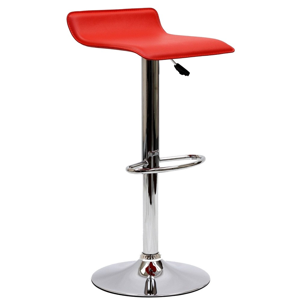 Image of Gloria Bar Stool Red - Modway