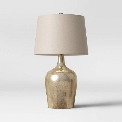 Large Glass LED Lamp Base Silver (Includes Energy Efficient Light Bulb)- Threshold™