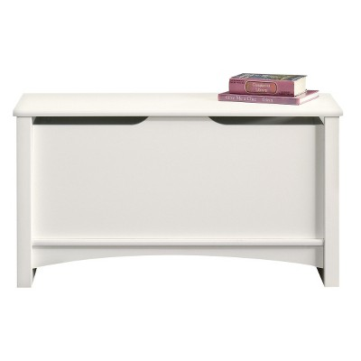 Shoal Creek Storage Chest with Lid Stay Safety - Soft White - Sauder