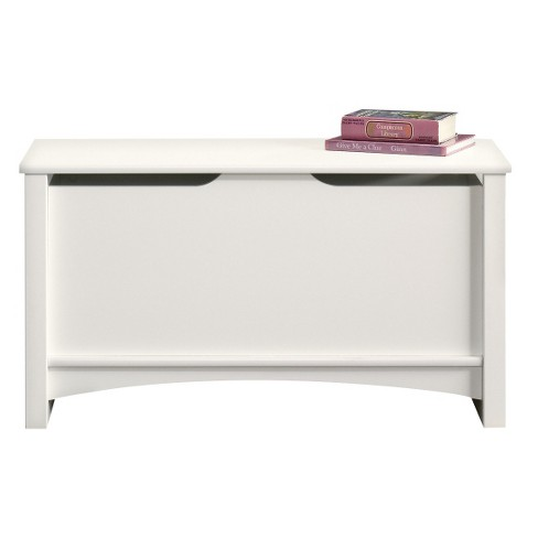 Shoal Creek Storage Chest with Lid Stay Safety - Soft White - Sauder - image 1 of 1