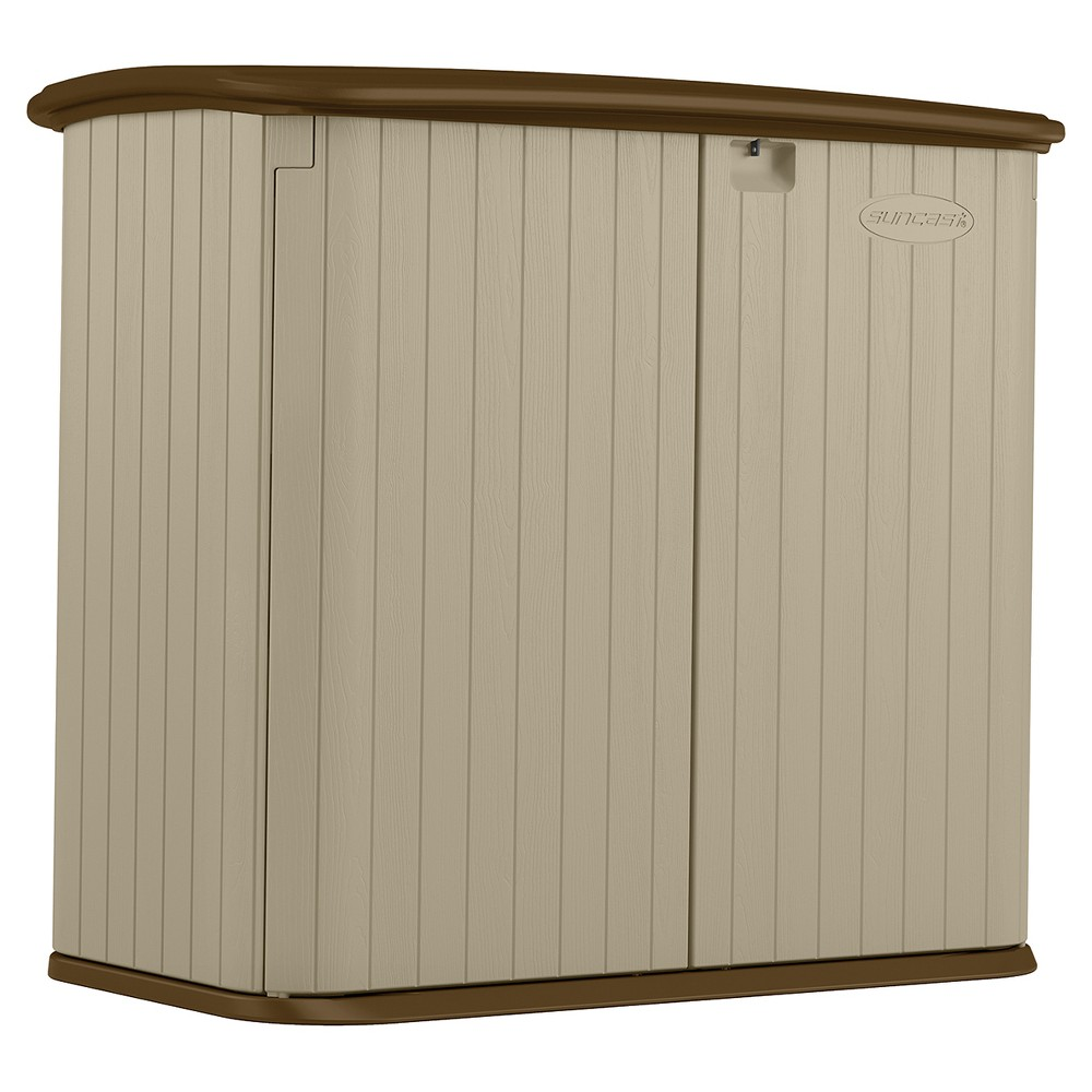 32' Cubic Resin Horizontal Storage Shed - Brown - Suncast
