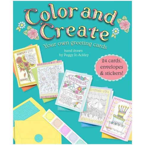 Color and create your own greeting cards paperback peggy jo about this item m4hsunfo
