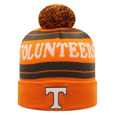NCAA Tennessee Volunteers Men's Knit Cuffed Beanie with Pom