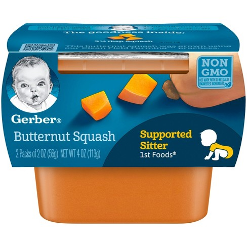 Gerber 1st Foods Baby Food Butternut Squash - 2oz (2ct) - image 1 of 3