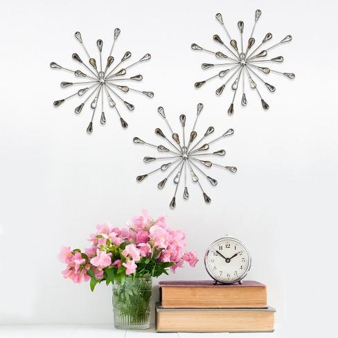 Acrylic Burst Wall Decor Set Of 3 Stratton Home Decor Target