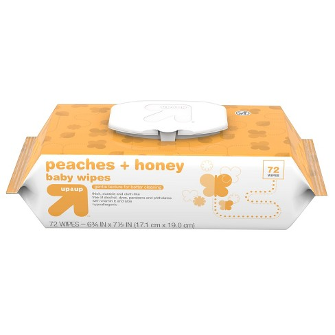 Baby Wipes Peaches & Honey - 72ct - Up&Up™ - image 1 of 4