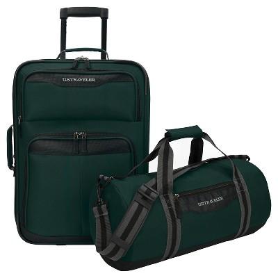 U.S. Traveler Luggage Set - Forest