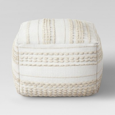 Lory Pouf Textured Neutral - Opalhouse™