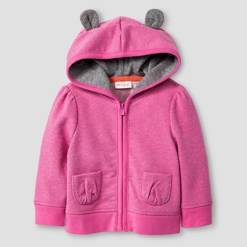 6beef45879d7 Baby Girls  Bear Sparkle Hoodie Cat   Jack™ - Pink   Target