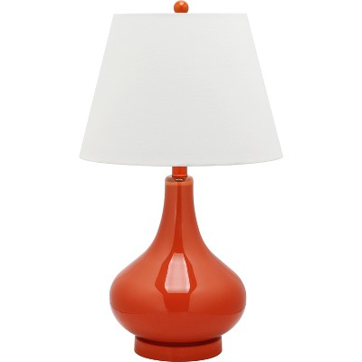 Amy 24Inch H Gourd Glass Table Lamp Blood Orange - Safavieh®