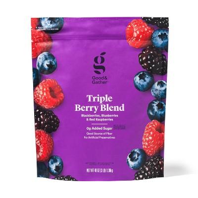 Triple Berry Frozen Fruit Blend - 48oz - Good & Gather™