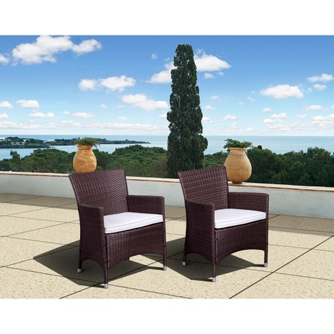 Atlantic Furniture Cape Deluxe 2-Piece Wicker Patio Dining Chairs Set - image 1 of 1