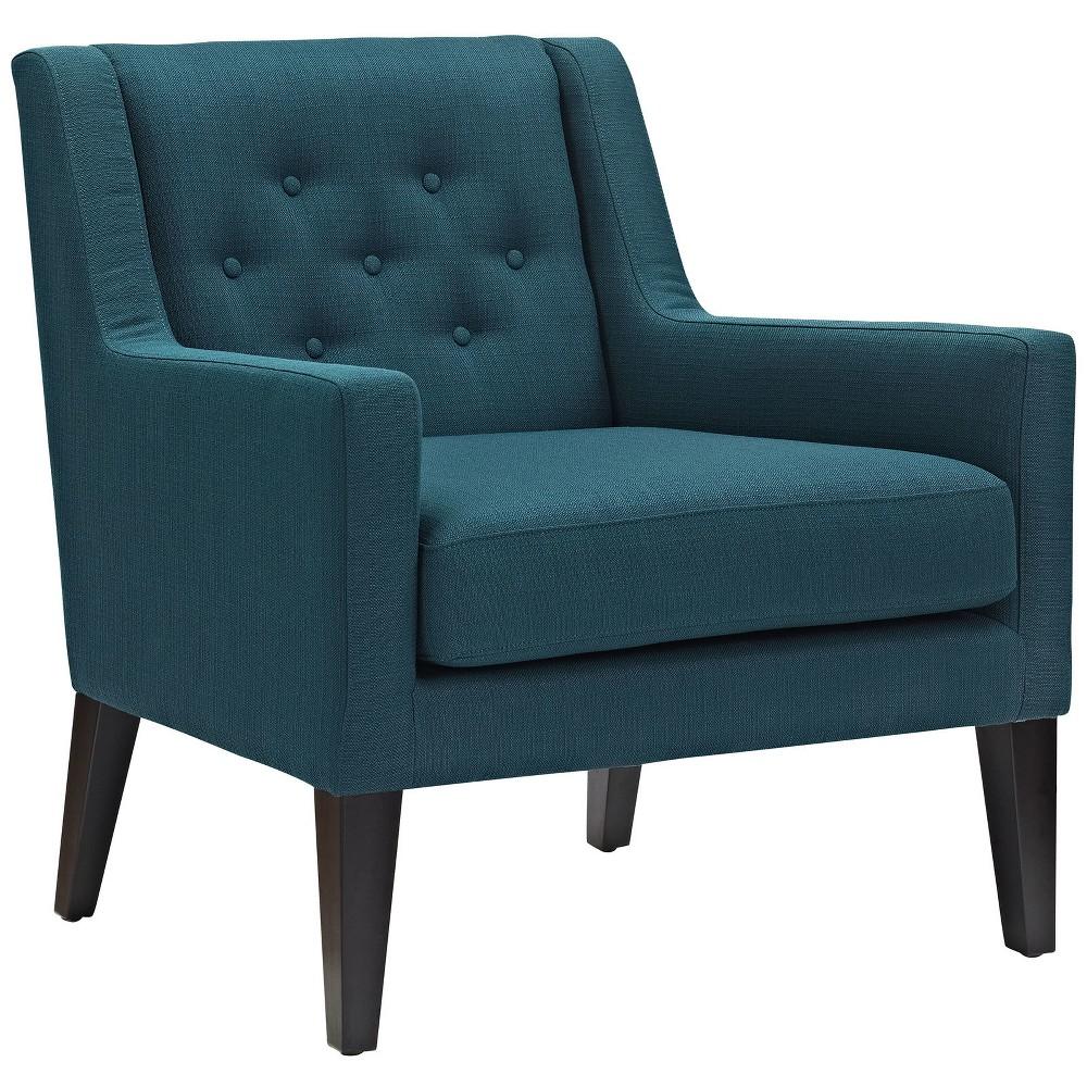 Earnest Upholstered Fabric Armchair Azure (Blue) - Modway