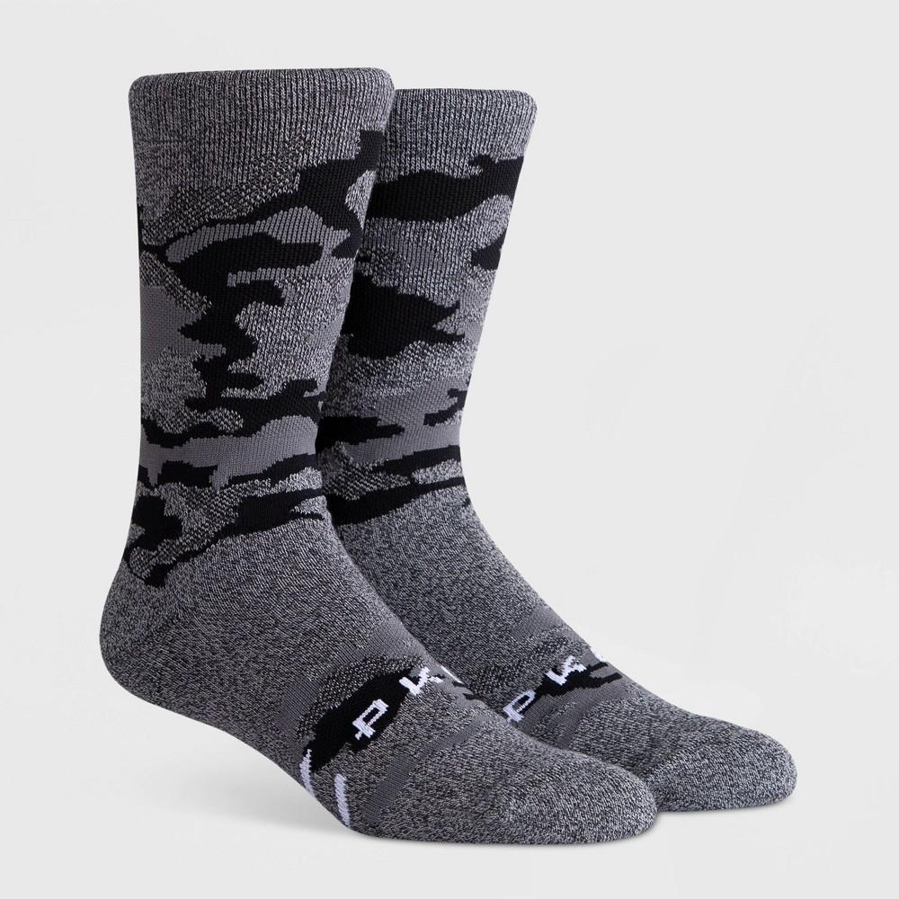 Image of PKWY Men's Cadet Crew Socks - Black L, Size: Small