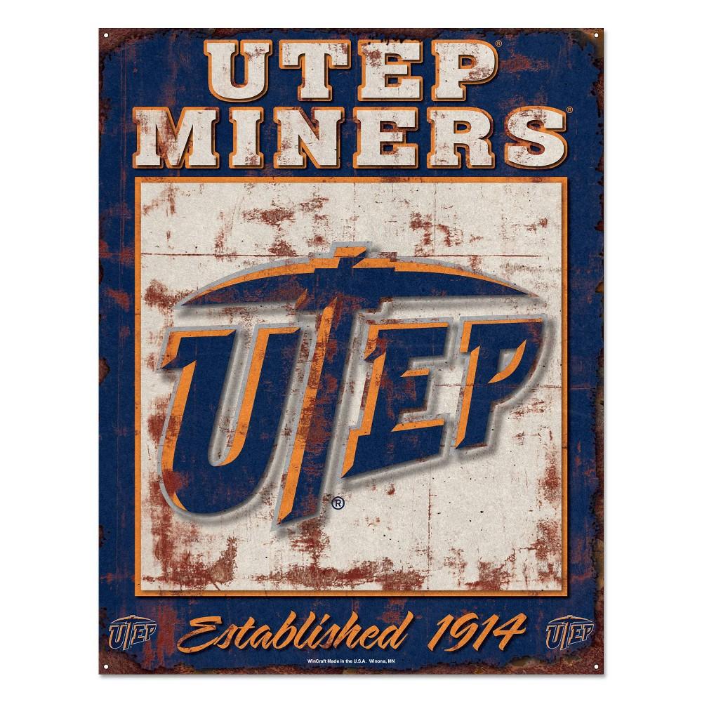 NCAA Utep Miners Metal Wall Sign