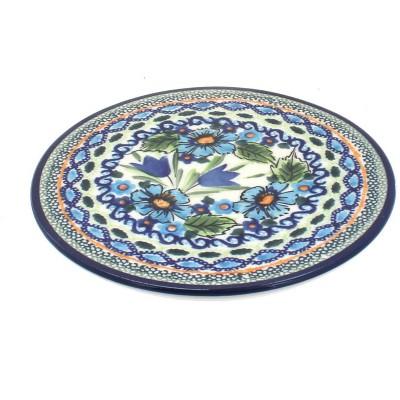 Blue Rose Polish Pottery Ballina Trivet