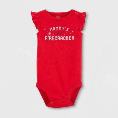 Baby Girls' Firecracker Bodysuit - Just One You® made by carter's Red 6M
