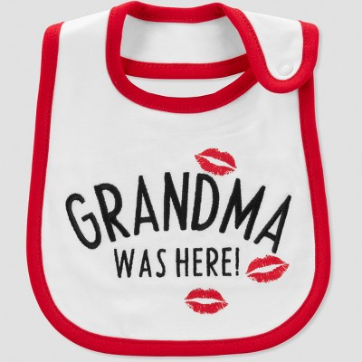 Baby Grandma Was Here Bib - Just One You® made by carter's Cream One Size