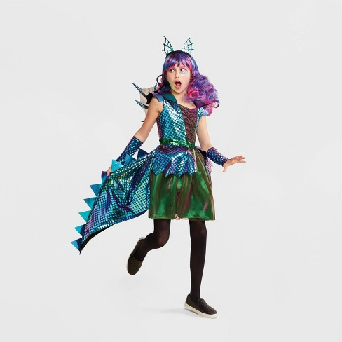 Mythical Creatures Halloween Costumes.Girls Dragon Deluxe Halloween Costume Hyde Eek Boutique
