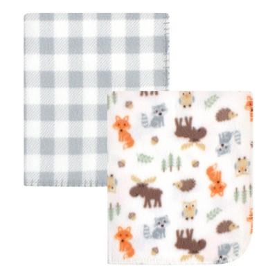 Hudson Baby Infant Boy Fleece Blankets, Woodland, One Size