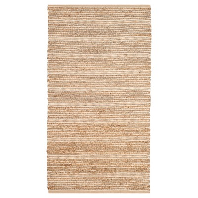 Natural/Ivory Stripe Woven Accent Rug - (3'X5')- Safavieh