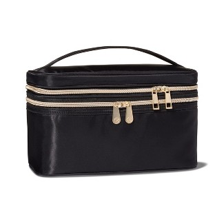 Sonia Kashuk™ Double Zip Train Case Makeup Bag  - Black