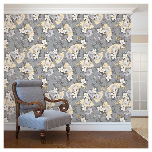 Tempaper Botanical Removable Wallpaper - Pale Yellow - image 1 of 2