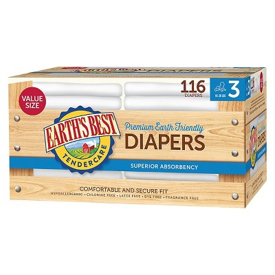 Earth's Best Tender Care Diapers Club Pack - Size 3 (116 ct)