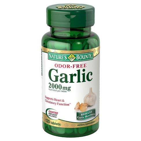 Nature's Bounty Garlic Supplement Tablets - 120ct - image 1 of 1