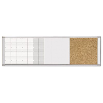 MasterVision Magnetic Calendar Combo Board 48 x 18 Aluminum Frame XA429993700