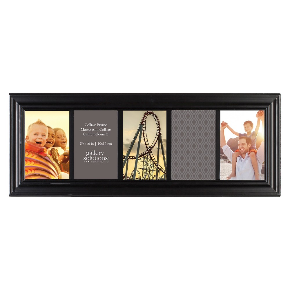 Image of 6X20 Black 5 Opening Linear Collage Frame - Gallery Solutions