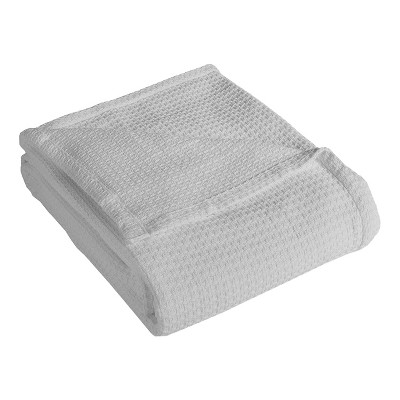 Elite Home 108 x 90 Inch Soft Lightweight All Season Grand Hotel Cotton Throw Blanket for Couch, Sofa, or Bed, King Size, White