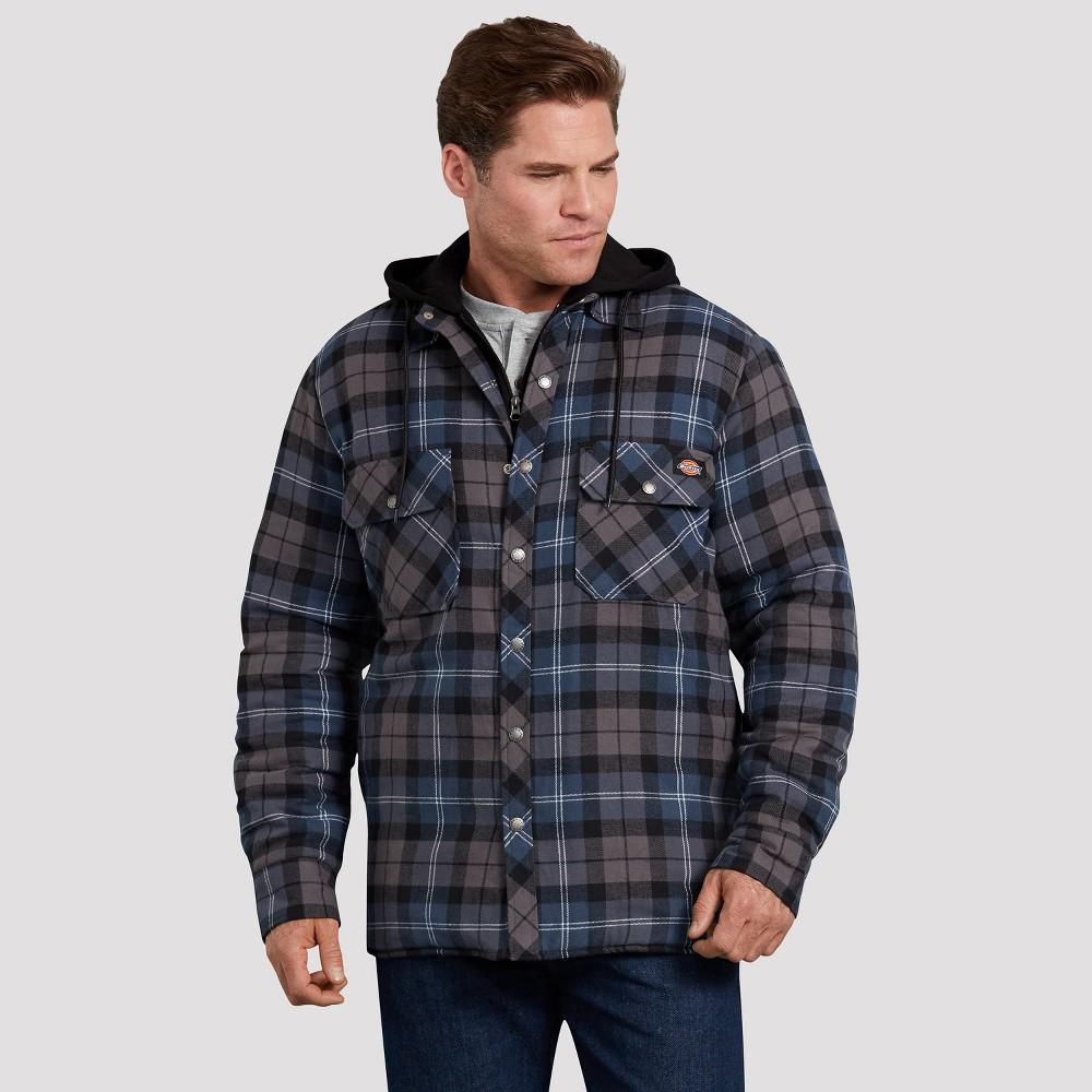 Dickies Men's Plaid Long Sleeve Jackets - Deep Navy XL