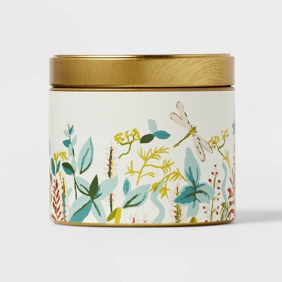 4oz Mini Grab Tin with Patterned Wrap Label Herb Garden Candle - Opalhouse™
