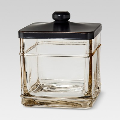 Antique Glass Bath Canister Gray - Threshold™