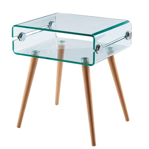 Cassetto Glass end table - Versanora - image 1 of 4