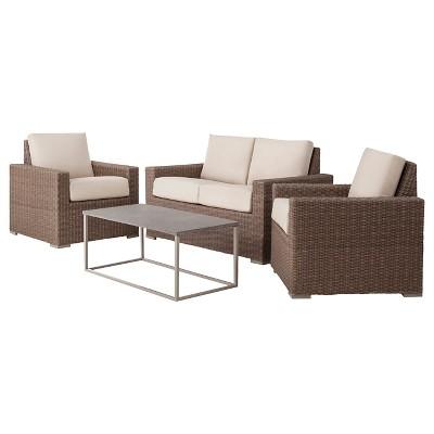 heatherstone wicker patio furniture collection threshold target rh target com threshold wicker patio accent table Threshold Furniture Parts