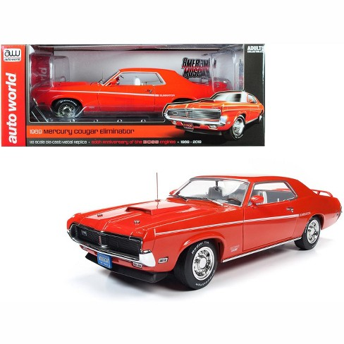 1969 Mercury Cougar Eliminator Hardtop Orange 50th Anniversary Of The Boss Engines 1 18 Diecast Model Car By Autoworld Target