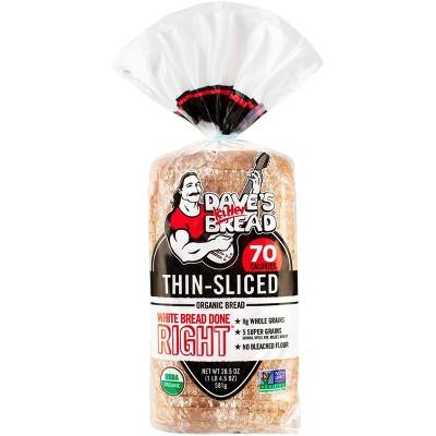 Dave's Killer Bread Organic Thin Sliced White Sandwich Bread - 20.5oz