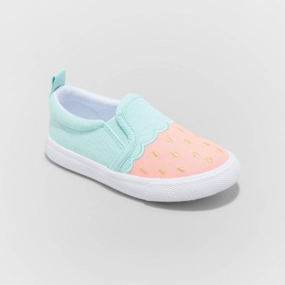 Toddler Girls' Beatrice Slip-On Watermelon Sneakers - Cat & Jack™ Mint/Pink