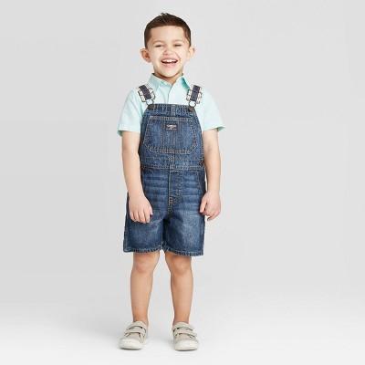 OshKosh B'gosh Toddler Boys' Strap Overall Short - Blue 4T