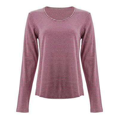 Aventura Clothing  Women's Basis Long Sleeve Stripe Tee