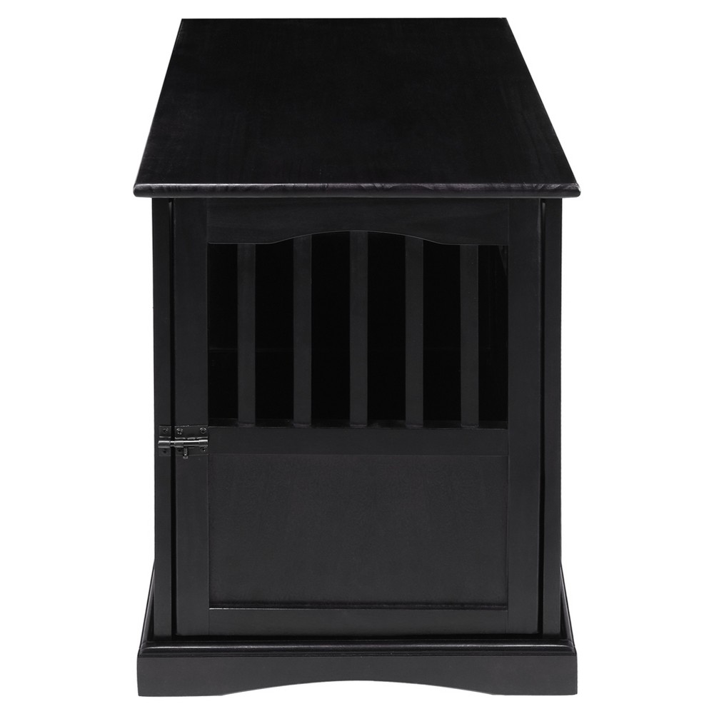 Image of Dogs Pet Crate End Table Small - Black - Flora Home