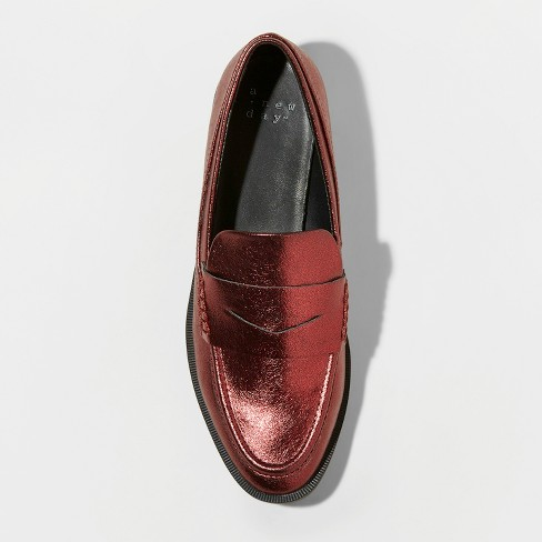 be7f67ed72e Women s Bernadette Patent Penny Loafers - A New Day™ Red 8.5   Target