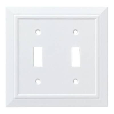 Franklin Brass Classic Architecture Double Switch Wall Plate White