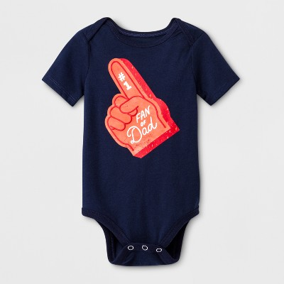 Baby Girls' #1 Fan of Dad Bodysuit - Cat & Jack™ Navy Newborn